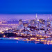 San Francisco Cityscape Night Colors