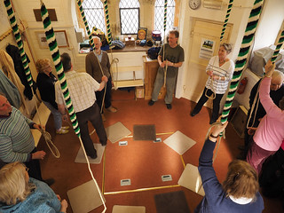 Photo of ringers in St James ringing room