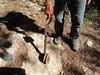 Poulie de téléphérique trouvée dans le ruisseau de Peralzone