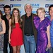"The cast of the short film ""Royal Reunion"", from left to right: Amy Yasbeck, Justin Baldoni, Chelsea Ricketts, James Brolin, Caroline Lagerfelt & Dean Cain"