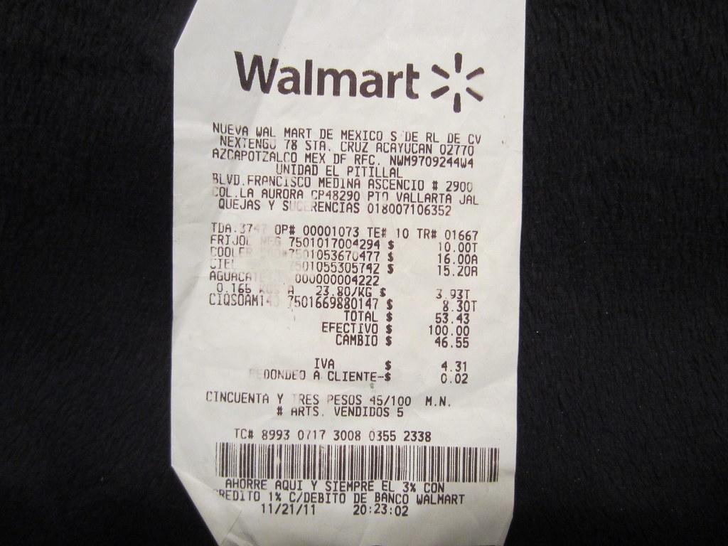 walmart receipt generator autos post. Black Bedroom Furniture Sets. Home Design Ideas