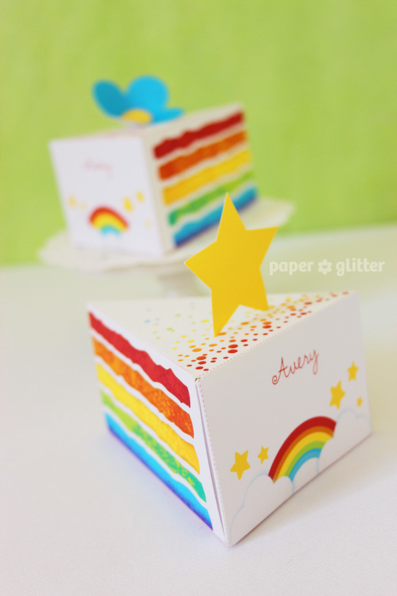 Cake Designs On Paper : 06_paper+cake+rainbow+party+care+bear+80+party+decorations ...