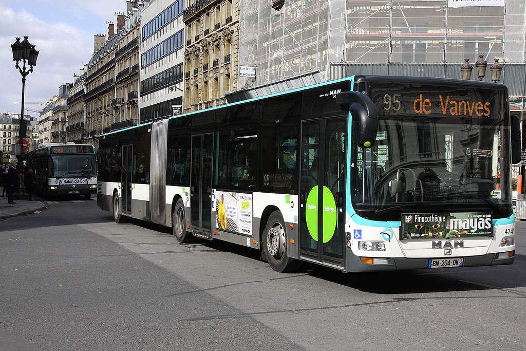 ratp bus 4741 95 opera seen at opera in central paris is m flickr. Black Bedroom Furniture Sets. Home Design Ideas