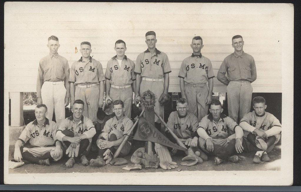 68th Company Baseball Team in Cuba, circa 1920s ...
