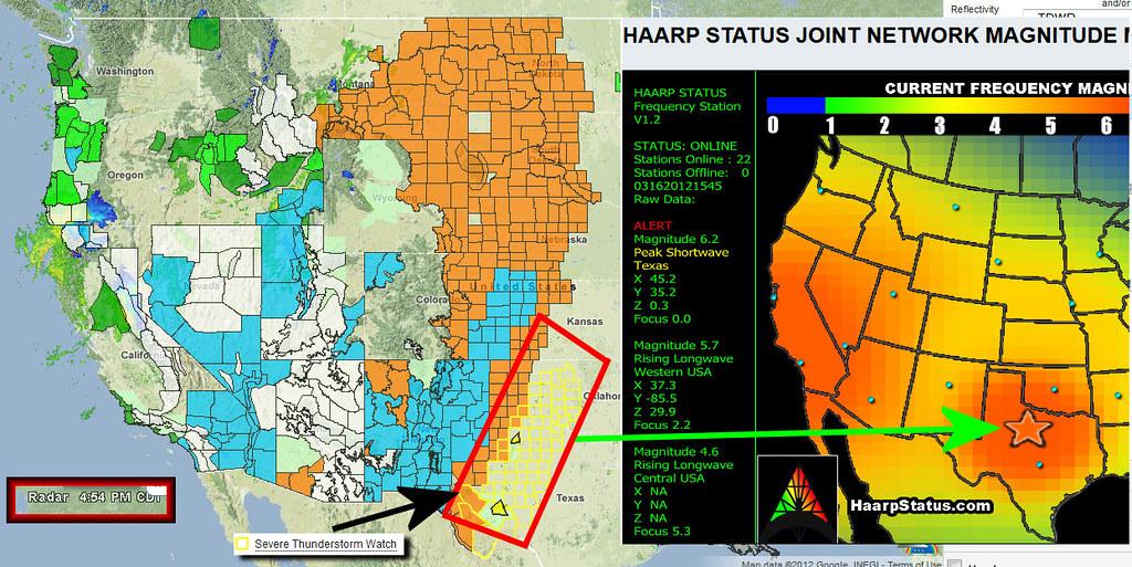 3/16/2012: HAARP Status Report vs. Severe Thunderstorm Wat ...