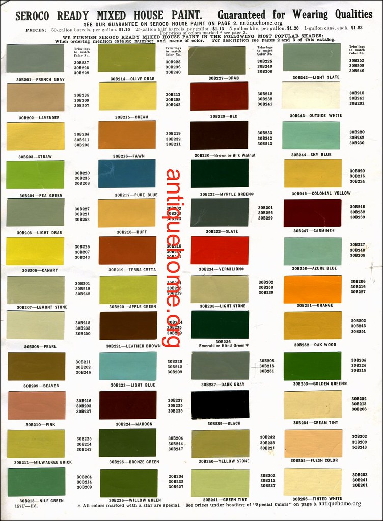 Seroco House Paint 1910 Bungalow Paint Colors Color
