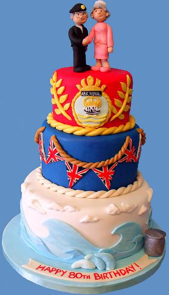 Birthday Royal Cake Hd Images : Royal Navy Birthday Cake 80th birthday cake for a ...