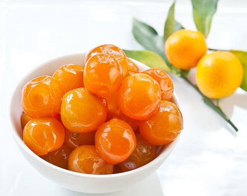 Candied Vanilla-Poached Kumquats | by stickygooeychef