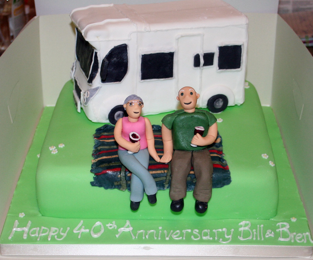 Camping Birthday Cake Toppers