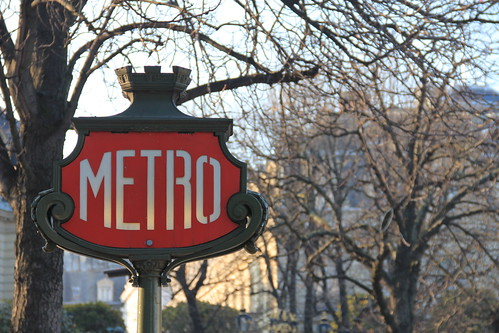 Metro Sign, Paris, February 2012 | by danxoneil