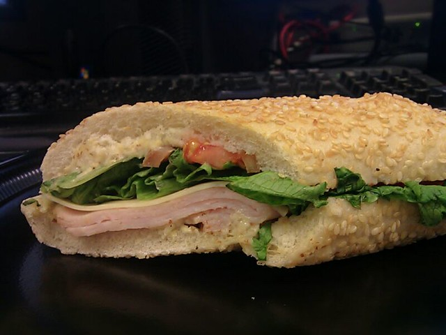 Turkey and Swiss Sandwich @ Corner Bakery Cafe