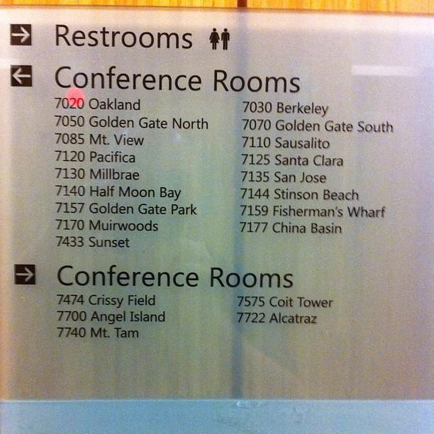 Conference room names at Microsoft SF | Greg Dewar | Flickr