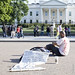 One man Islamic protest at the White House
