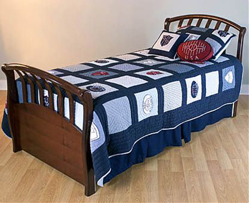 Antique Bed With Footboard With Additional Space To Mattress