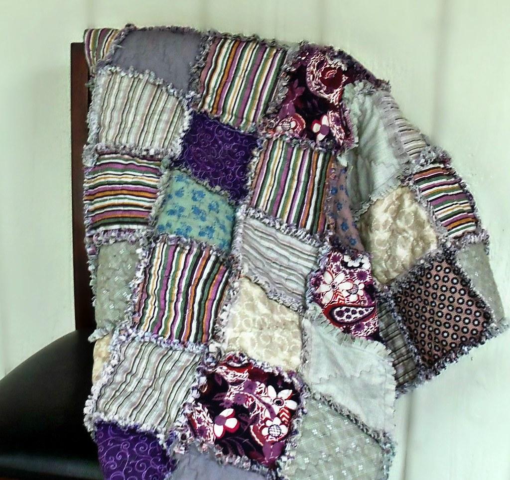 Purple Green Tan Cream Taupe Grey Rag Quilt Modern Flickr