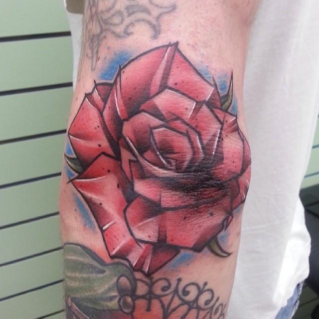 Elbow Rose Tattoo Designs