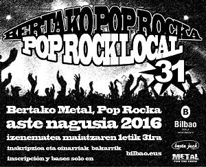El Ayuntamiento de Bilbao pone en marcha la XXXI edición de la Muestra de Pop-Rock Local de Aste Nagusia