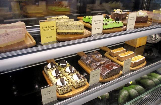 Eco-delite Cafe, cake counter