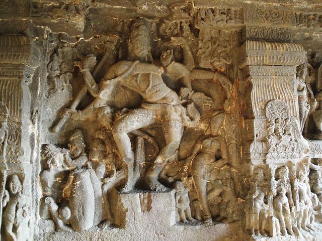 Rock carvings ajanta ellora caves flickr photo sharing