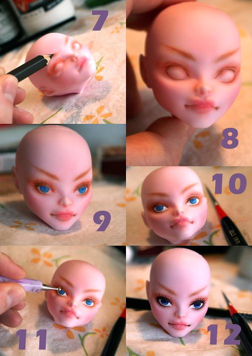 Как сделать лицо для куклы в домашних условиях