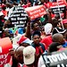 Thousands of workers from the Congress of South African Trade Unions (Cosatu) gathered in Johannesburg, Durban and Cape Town to protest against conditions inside the country. People opposed contract labor and e-tolls.