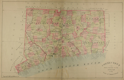 Page 12 and 13 of Town and city atlas of the State of Connecticut. / Compiled from government surveys, county records and personal investigations | by uconnlibrariesmagic