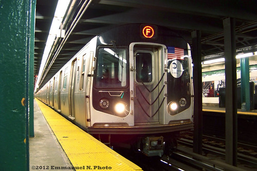 MTA R160 F train via the G line at Greenpoint Ave. | by Emmanuel Nicolas Transit Photography