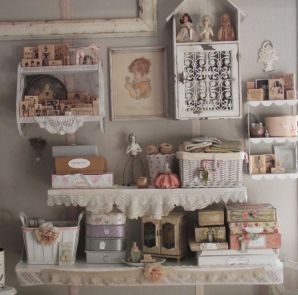 Peek at the new studio not completely finished with this for Shabby chic craft room