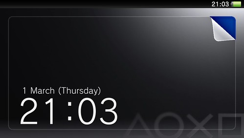 PS Vita lock screen | by Matt Gemmell