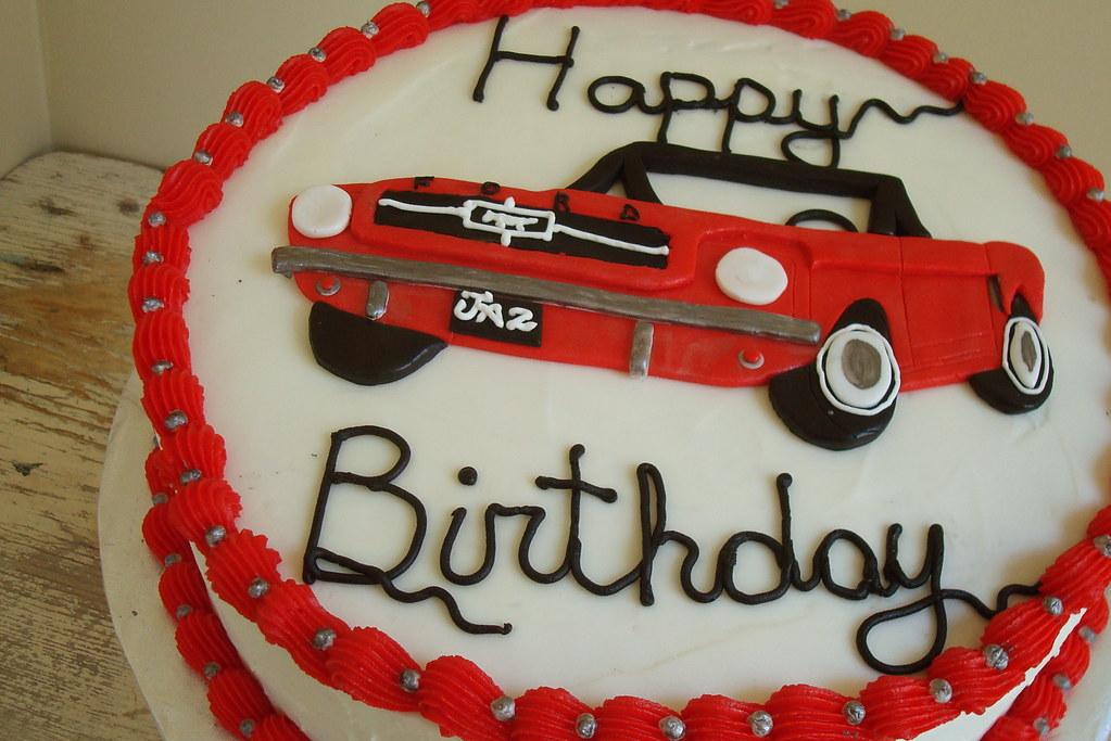 Jazz S Mustang Cake 1965 Red Mustang Birthday Cake