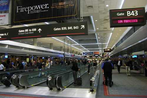Scenes From United Terminal At Denver International