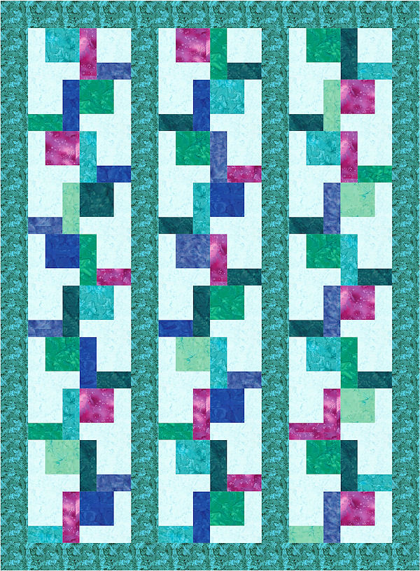 Free Quilt Block Design Program : L-Block Quilt 15 This computer-illustrated L-Block quilt w? Flickr