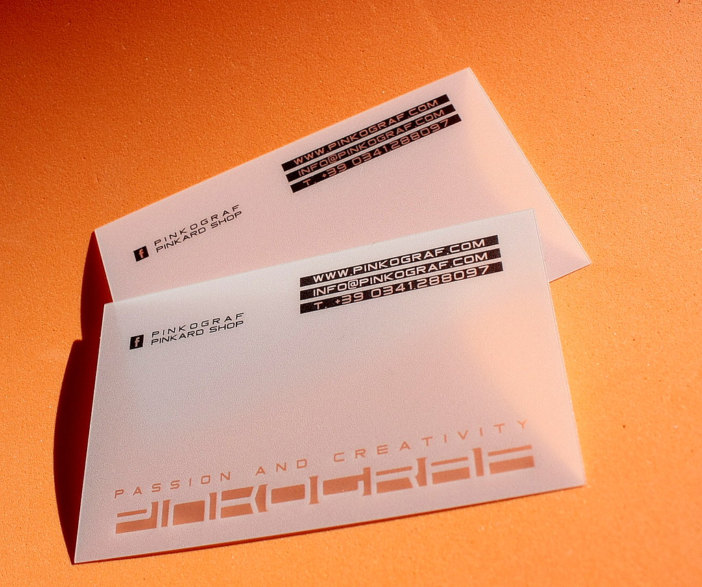Translucent plastic business cards | Translucent plastic bus… | Flickr