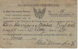 Larry Moses - Grandfather's Draft card | by Veteran Journal