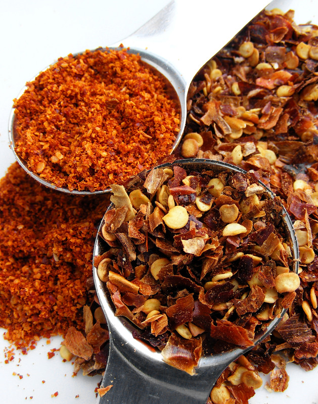 Chili flakes and chili powder klik om alles te lezen for Chili flakes
