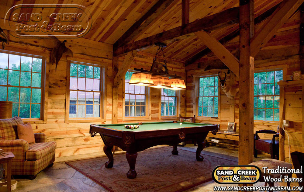 Barn Home Game Room Sand Creek Post Amp Beam Traditional