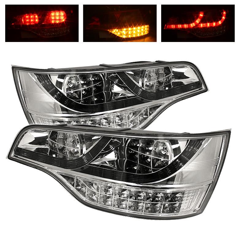 Audi Q7 LED Tail Lights Chrome