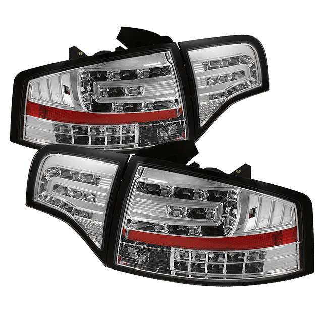 audi a4 06 08 led tail lights chrome year 2006 2008. Black Bedroom Furniture Sets. Home Design Ideas