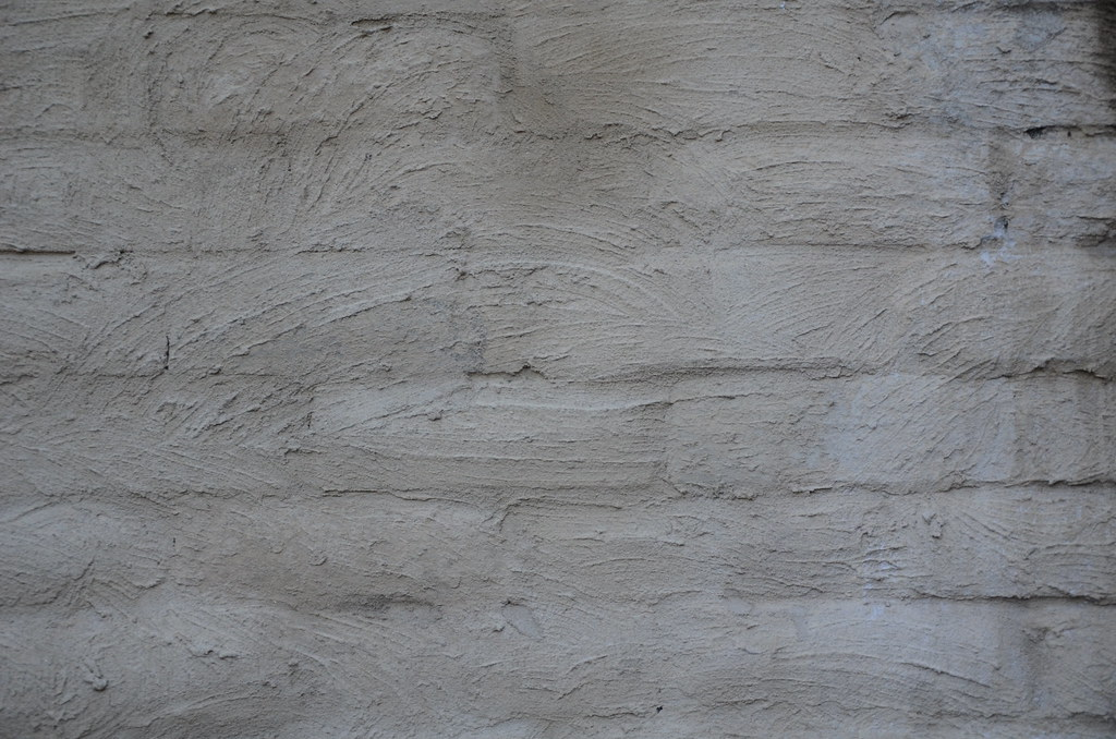 Texture Rendered Brick Wall Neutral Coloured Render On