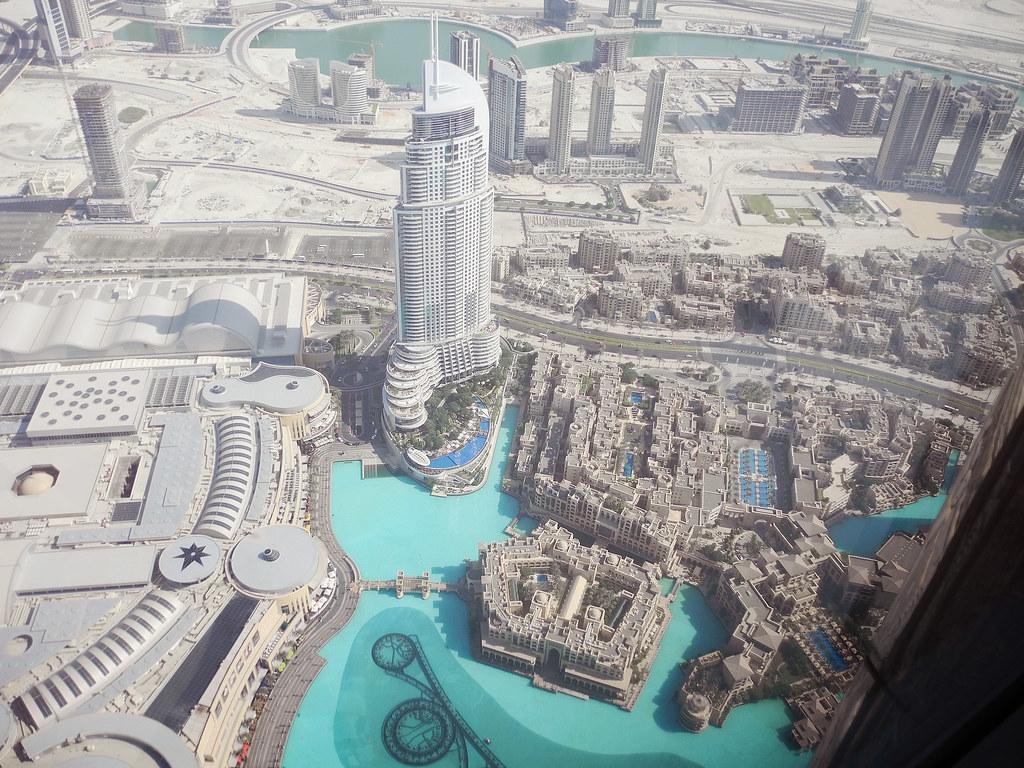View From Burj Khalifa Inside Burj Khalifa Dubai