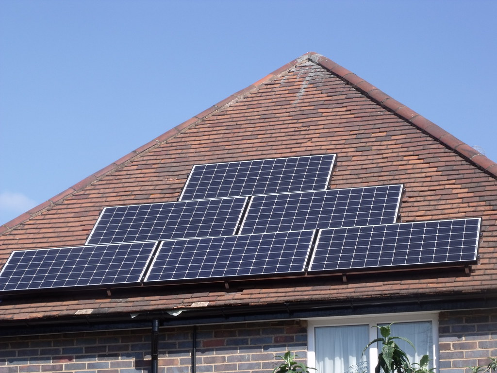 Solar Panel On Side Of Building : Solar panels on a roof in hall green side view flickr