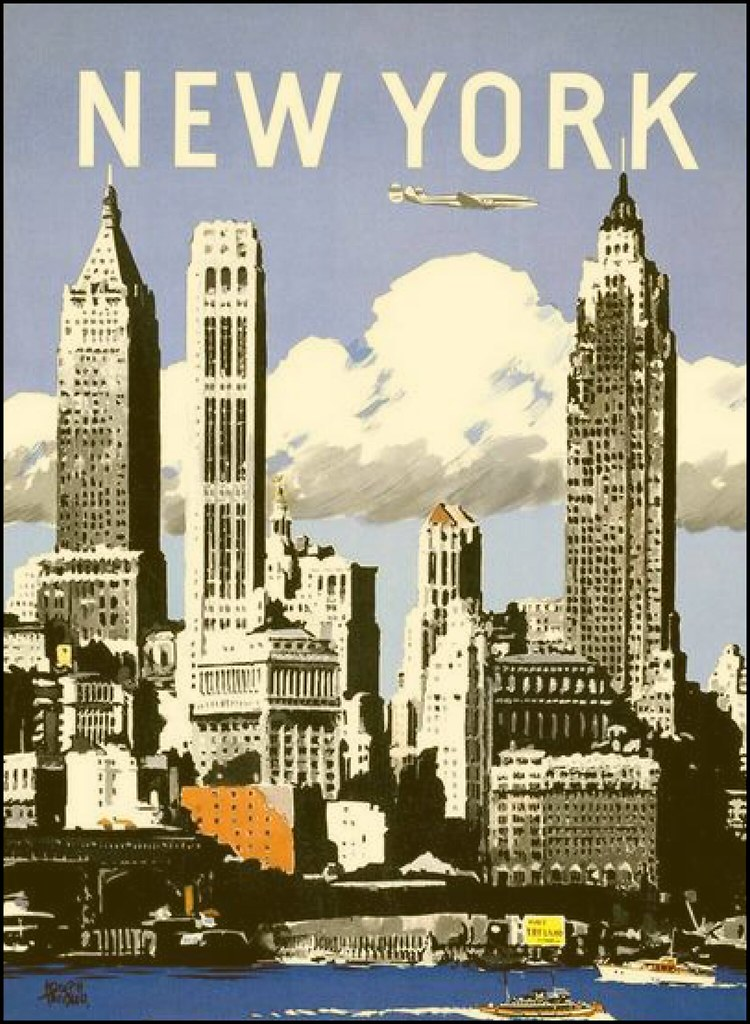 cool vintage new york print vintage poster print advertisi flickr. Black Bedroom Furniture Sets. Home Design Ideas