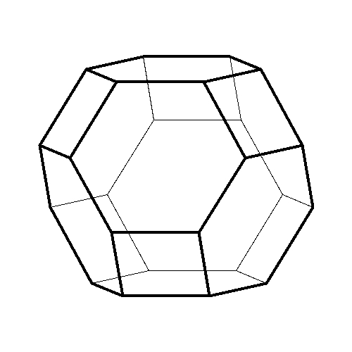Truncated Octahedron NET | Truncated Octahedron 466 | Pinterest