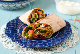 Mediterranean Wrap | by Seeded at the Table