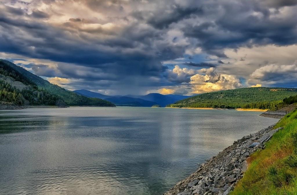 Lake KooCanUsa | Stormy weather over Lake KoocanUsa. Lake ...