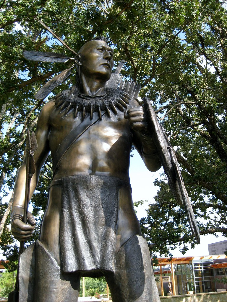 chickasaw warrior statue i was so impressed by this