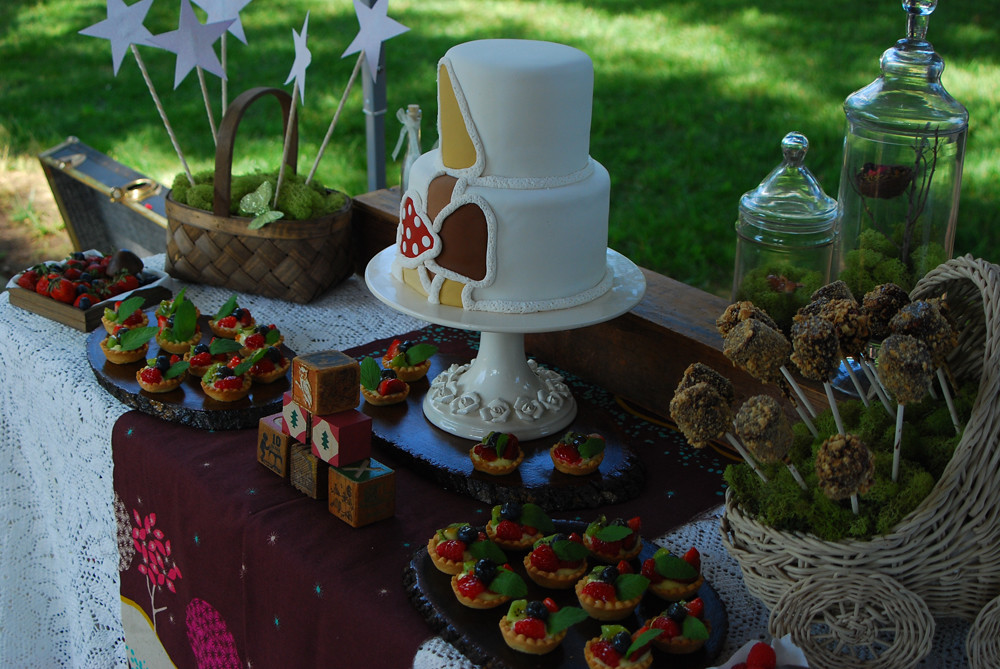 woodland enchanted forest baby shower dessert table flickr