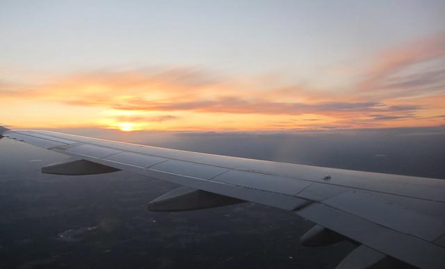 Lento iltaruskossa