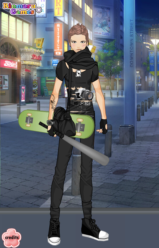 Rinmaru Games Male Street Fashion Dress Up Game Blythe