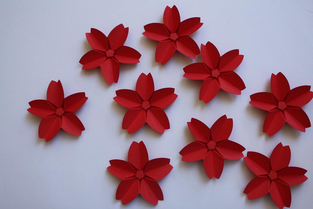origami cr ation didier boursin fleurs de cerisier flickr. Black Bedroom Furniture Sets. Home Design Ideas